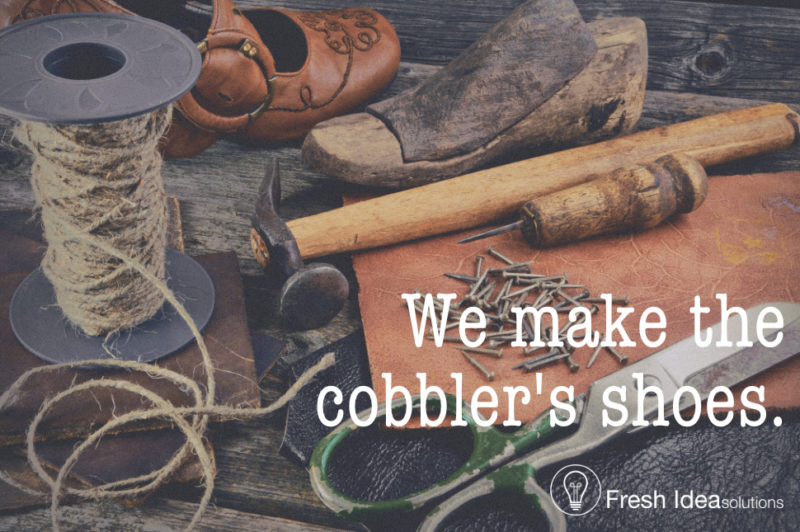 Marketing for marketers. We make the cobbler's shoes.